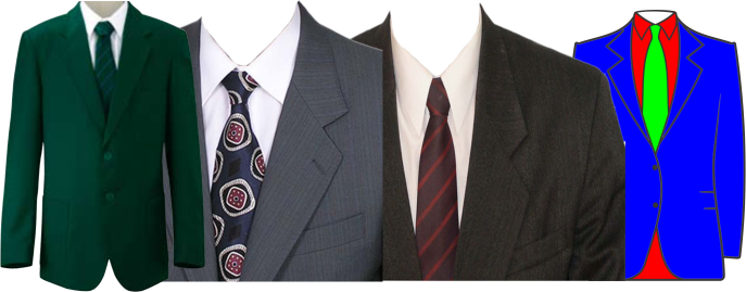 Formal Suits, Blazer-Shirt-Tie, Skirt Suits